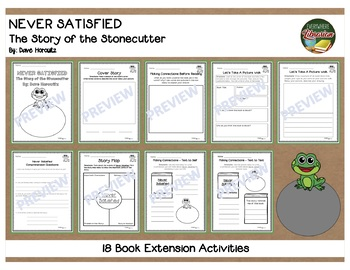 Never Satisfied Story of the Stonecutter by Horowitz 18 Extension Activities