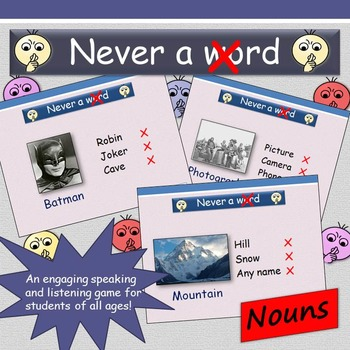 'Never a Crossed Word' (Nouns) - Speaking and Listening Game