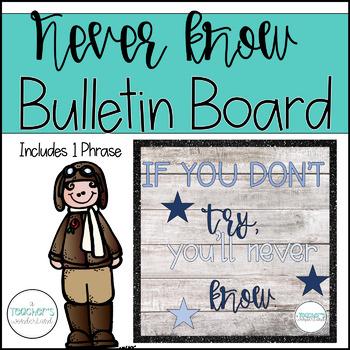 Never know Mindset Bulletin Board