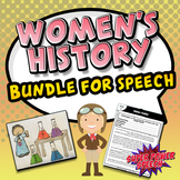 Women's History Bundle for Speech Therapy