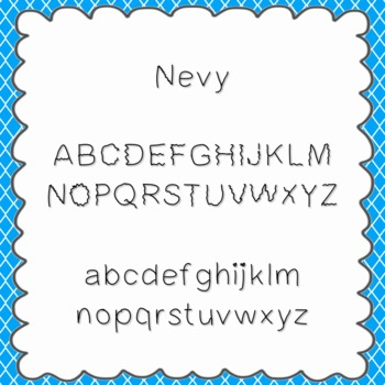 Nevy Font {personal and commercial use; no license needed}