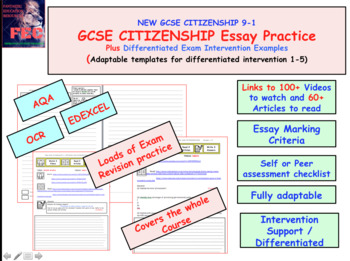 New 1 -2-3 Intervention Sheets x45+ Examples for GCSE Citizenship
