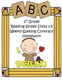 Reading Street 1st Grade Differentiated Spelling Homework Units 1-5 (Editable)