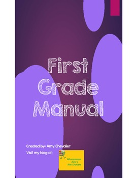 New 1st Grade Teacher Manual