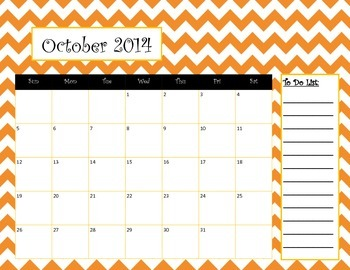 New! 2014-2015 Chevron Calendar