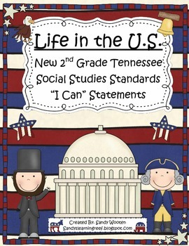 "2nd Grade Tennessee Social Studies Standards ""I Can"" Statements!"