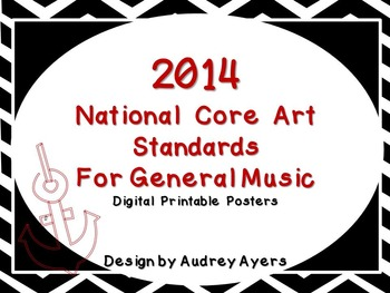New 2014 National Core Arts Standards Posters (Digital and Printable) B and W