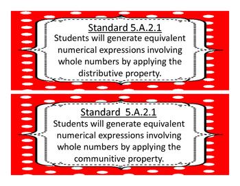 2018-2019 5th Grade Oklahoma Math and Language Academic Standards