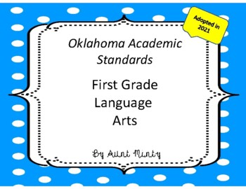 2018-2019 Oklahoma First Grade Math and  Language Arts Academic Standards