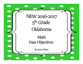 2017-2018 New  Oklahoma Fifth Grade Math Academic Standards and Objectives