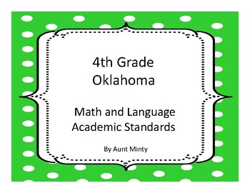 Oklahoma Fourth Grade Math Academic Standards and Objectives 2017-2018