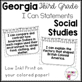 New 2017-2018 3rd Grade Georgia Social Studies Standards: