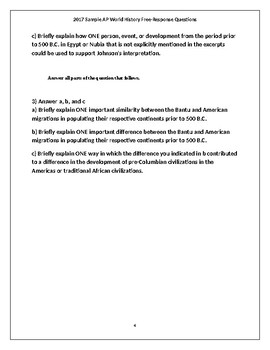 New 2018 AP World History Full Practice Exam 1 (with Answers)