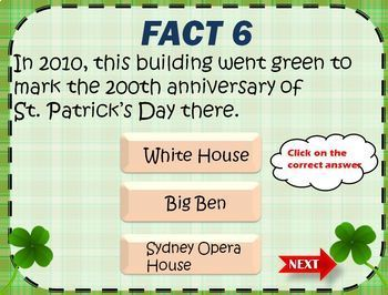 New 2017 Saint Patrick's Day Fun Vocabulary Games and Activities+PPT Facts Game