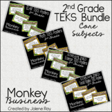 "2nd Grade ""I Can"" TEKS Statement Poster Bundle: MONKEY BUSINESS"