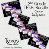 "2nd Grade ""I Can"" TEKS Poster Bundle: TEXAS PRIDE"