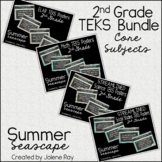 "2nd Grade ""I Can"" TEKS Statement Poster Bundle: SUMMER SEASCAPE"