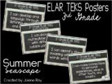"New 2019-2020 3rd Grade ELAR TEKS ""I Can"" Statement Posters: SUMMER SEASCAPE"