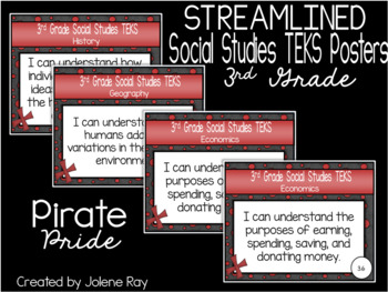 "3rd Grade ""I Can"" TEKS Statement Poster Bundle: PIRATE PROUD"