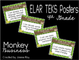 """2019-2020 4th Grade ELAR TEKS """"I Can"""" Statement Posters: MONKEY BUSINESS"""