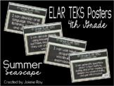 "2019-2020 4th Grade ELAR TEKS ""I Can"" Statement Posters: SUMMER SEASCAPE"
