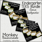 """New 2018 Kindergarden """"I Can"""" TEKS Posters: MONKEY BUSINESS"""