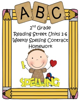 Reading Street 2nd Grade Differentiated Spelling Homework Units 1-6 (Editable)
