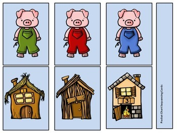 New!  3 Little Pigs Comprehension Activities
