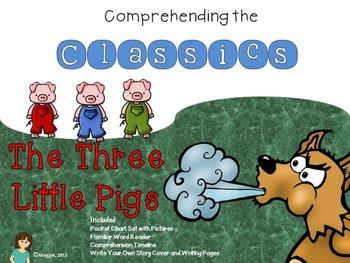 New!  3 Little Pigs Comprehension Activities
