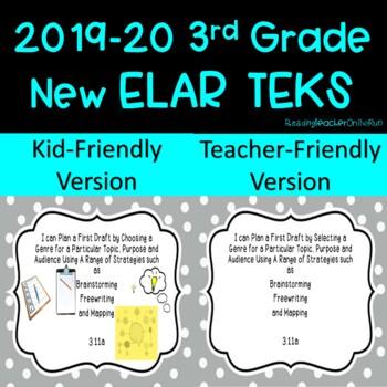 New 3rd Grade ELAR TEKS I Can Statements