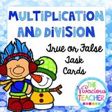 True or False Number Sentences Multiplication or Division