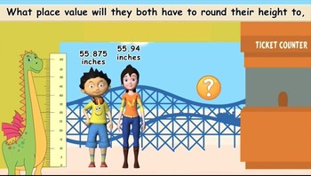 Common Core  Math-{Sammy and Keona's trip to Amusement Park}-Rounding Decimals