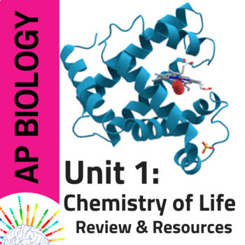 NEW AP Biology Comprehensive Review plus Resources for Unit 1: Chemistry of Life