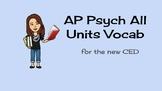New AP Psych Vocab--all units