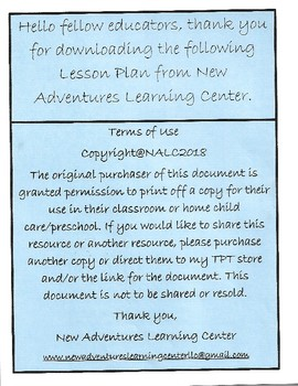 New Adventures Learning Curriculum Letter Name/Letter Sound Match