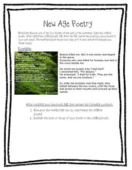 Typing Skills Reinforcement  - Poetry and Technology