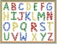 Alphabet Clip art: Capital Letters with Linking Chains and 4 Linking Frames