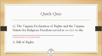 New American Nation Powerpoint and Quiz