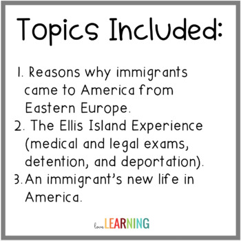 New Americans - Ellis Island and Angel Island {Lesson and Scaffolded Notes}