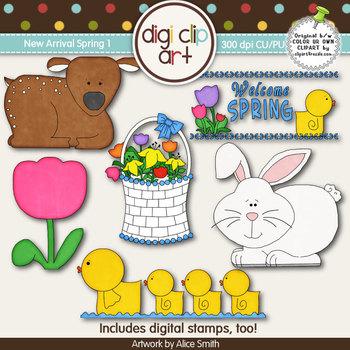 New Arrival Spring 1-  Digi Clip Art/Digital Stamps - CU Clip Art