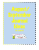 New August September Journal Idea Cards
