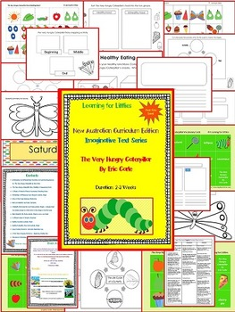 New Australian Curriculum Year One Level Unit The Very Hungry Caterpillar