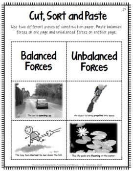balanced and unbalanced forces grade 2 new bc curriculum by bonnie