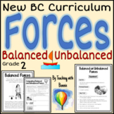Balanced and Unbalanced Forces Grade 2: New BC Curriculum