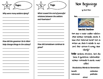 New Beginnings Trifold - ReadyGen 5th Grade Unit 4 Module B
