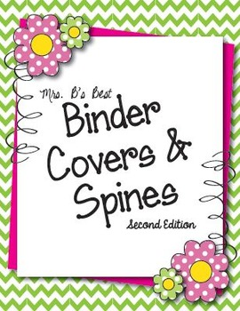 New!  Binder Covers and Coordinating Spines 2 - Editable!