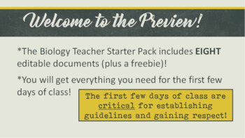 New Biology Teacher Starter Pack
