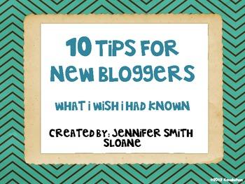 New Blogger Tips