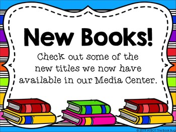 New Book Signs for Your Library/Media Center