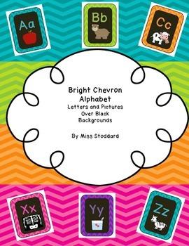 New Bright Chevron Alphabet